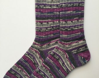 Ladies' Wool Socks, Knitted, Opal Potpourri