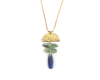 Cloud Cry Necklace in Kyanite Gemstones