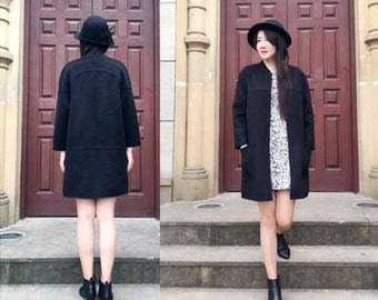 Classic Double- Faced/Sided Cashmere and Wool Jacket/Elegant Winter Coat /16 Colors / RAMIES
