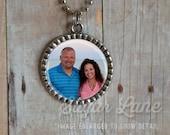Photo Necklace - Color Picture - Bezel Pendant with Chain - Picture Necklace