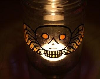 Old Gravestone Candle Luminary
