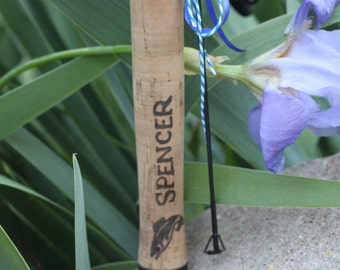 CUSTOM Fishing Rod- Personalized fisherman father/ grandfather gift- Shakespeare Crusader Spin Combo