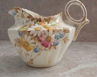 Floral Creamer Pitcher Small Paragon Cineraria Vintage 111215RV