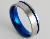 Wedding Band , Titanium Ring , Promise Ring , Mens Titanium Ring , Mens Titanium Wedding Ring , The Cosmos Band with Comfort fit Interior
