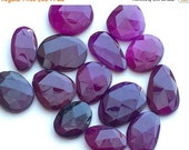 50% VALENTINE SALE WHOLESALE 14 Pcs Amethyst Chalcedony Rose Cut, Purple Flat Back Cabochons, Rose Cut Faceted Gemstones, 17-22mm Each