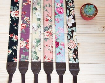 Floral Vintage Camera Strap for DSLR  , Mirror Less ,Compact