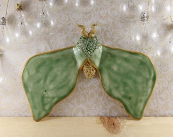 Ceramic Moth Wall Hanging