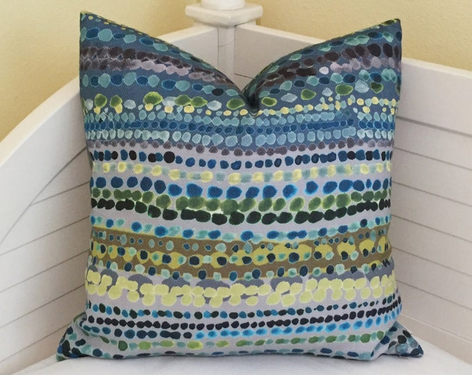 Anthropologie Ikat Dots Designer Pillow Cover - Square, Lumbar and Euro Sizes