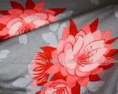 Last Piece-Jersey Knit Fabric, Desert Main Grey In Knit, Desert Bloom Collection, Riley Blake Designs, Cotton/Lycra