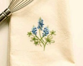 Texas Bluebonnet Tea Towel | Personalized Kitchen Towel | Embroidered Kitchen Towel | Embroidered Towel | Embroidered Tea Towel | Hand Towel