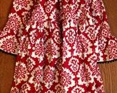 Girls Riley Blake Red Damask Dress size 2