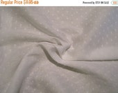 ON SALE White on White Pure Cotton Dotted Swiss Fabric--One Yard