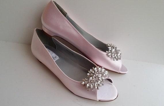 Wedding Kitten Heels: Pink Blush Wedding Shoes Pink Blush Kitten Heel By ABiddaBling