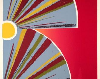 Original screenprint rainbow disk cd reflection