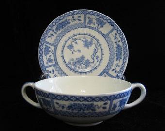 Grindley soup bowl and saucer set Lancelot pattern