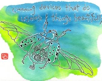 Steampunk Beetle (Etegami Original, Book Series)