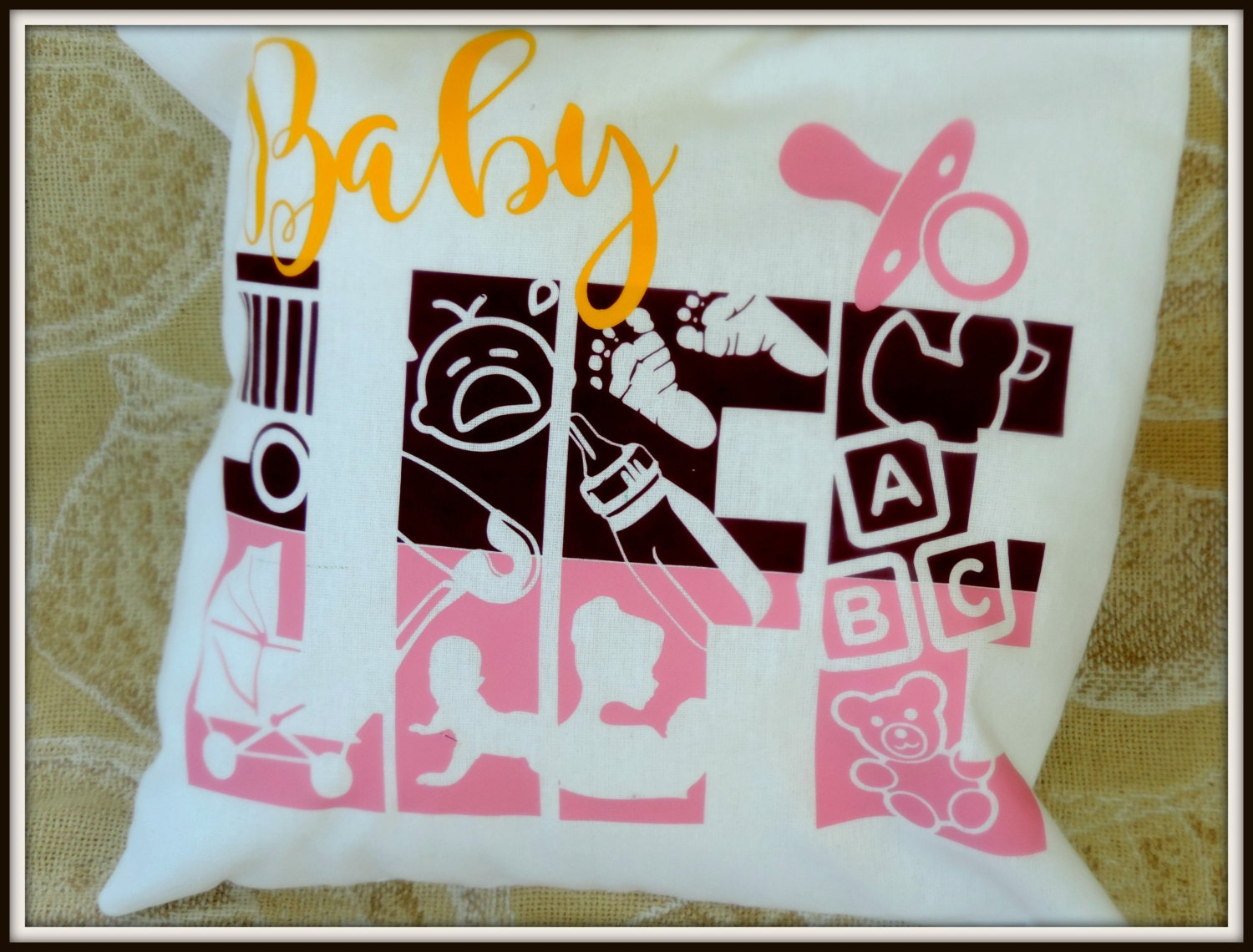 baby life pillow, baby life gift, office baby gift, office new, Baby shower