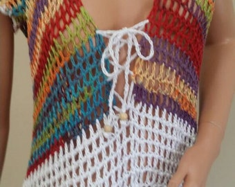 On sale. Swimsuit cover up. Or dress.  Hand made Original.