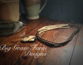 Wire Wrapped Necklace – Handmade Flint and Copper Pendant