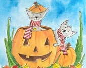 ORIGINAL Pumpkin Cats