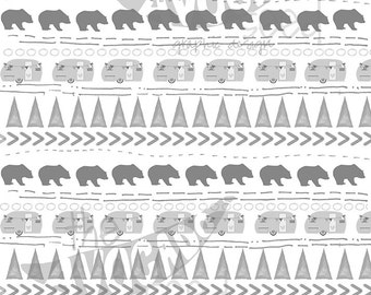 Outdoor Woodland Camping Lover Background - Instant Download