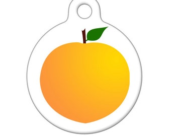 Pet ID Tag - Peach Pet Tag, Dog Tag, Cat Tag