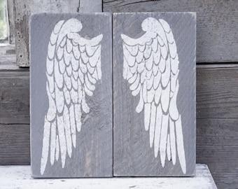 Rustic Angel Wings on old Shiplap, Rustic Decor, Farmhouse Decor, Rustic Nursery Decor, Gallery Wall Decor, Wooden angel wings