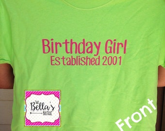 Birthday girl shirt, Birthday, Teenager birthday, Teenager birthday shirt, Birthday girl, Birthday gift, Girly birthday gift, Teenager gift