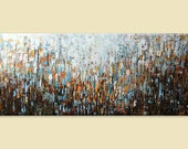 """70"""" x30   Wall Decor, Large Modern Painting ,lage canvas art,ORIGINAL Art Abstract Painting cityscape ,textured painting on canvas,wall art"""