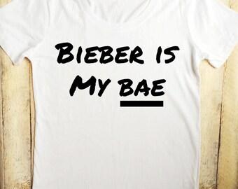 Bieber is my bae white tee