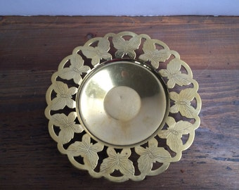 Vintage Brass Butterfly Candle Holders ~ Home Decor ~ Set of Two