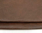 SHABBY BROWN LEATHER Reclaimed Pieces Genuine Hide Scraps 1265
