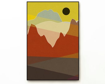 LANDSCAPE & BEYOND no.269 - Abstract Modern Minimalist Landscape Mid Century Style Art Print