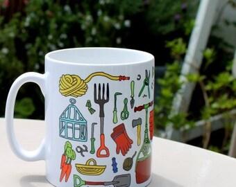 Vintage Gardening Mug