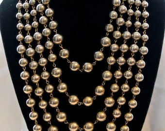 Vintage Multi-Chain Ball Necklace