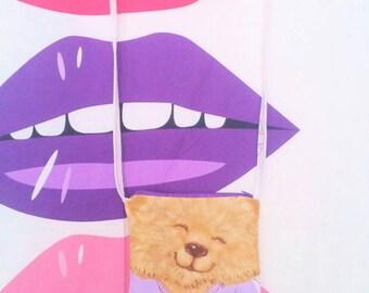 Shirt Tails vintage style purse long strap huggable beaver character 70s 80s cartoon