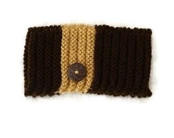 Brown Headband, Knit Earwarmers,  Fall Accessories, Autumn Accessories, Winter Headband, Winter Earwarmers, Knit Headband