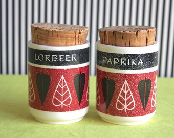 RARE Mid Century Modern Set of Spice Jars by Waechtersbach