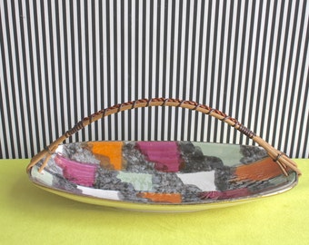 Vintage Mid Century West German Pottery Tray by Bay