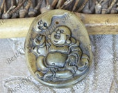 Charm Carved Jade smile Buddha Card pendant Bead Gemstsone, Carved Jade Pendant , jade Pendant Gemstone ,Carved Jade Pendant jewelry