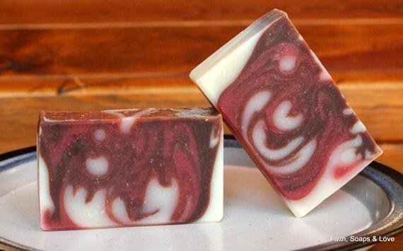 Pomegranate and Black Currant - Handmade Soap Cold Process - Pomegranate - Citrus - Currant - Floral - Scripture - John 3:16 - Christian