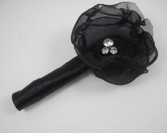 Boutonniere sale - black boutonniere - wedding bout - prom - flower bout - groom - groomsmen