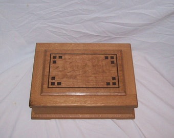 Quarter Sawn Oak Jewelry Box in the Mission Oak Style from our Prestige Collection Watch Box,Man Jewelry Box