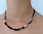 black stone necklace, fashion, Christmas gift, birthday gift, Bridesmaid Necklace, Bridesmaid Jewelry, Wedding Jewelry,bridesmaid gift