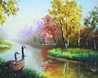 Canada Geese 11x17 print personally signed by artist RUSTY RUST / G-55-P