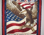 Patriotic Wall Hanging, July 4th, Eagle, Independence Day Stars and Stripes