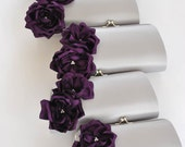 SILVER and DEEP PURPLE - Wedding clutch - Custom clutch - Bridal_Bridesmaids_Prom_Mother of the Bride