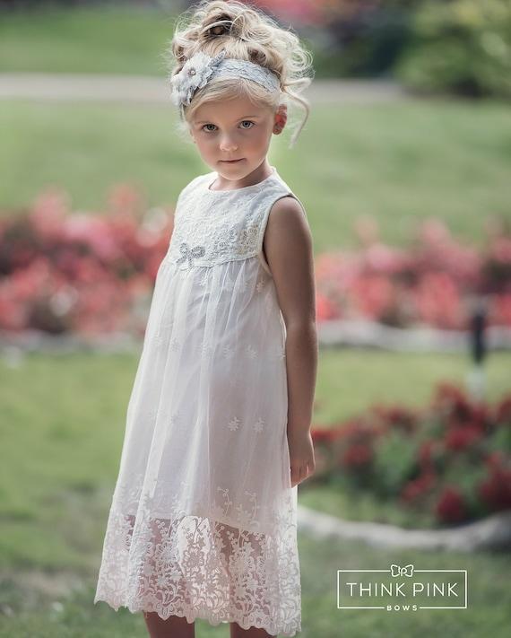 Flower Girl Dress Rustic Flower Girl Dress Country Lace