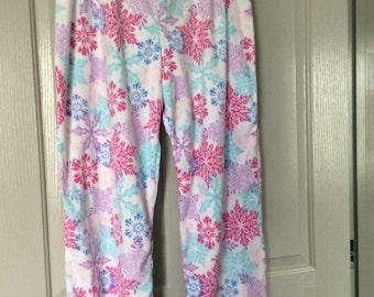 Fleece pants plus size 3X New/very soft floral print for PJ/Lounge/street