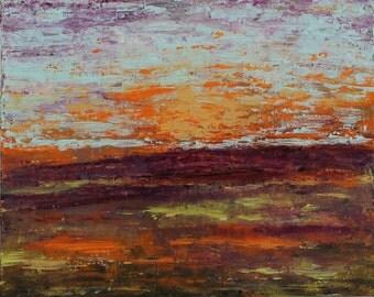 Sunset upon Field